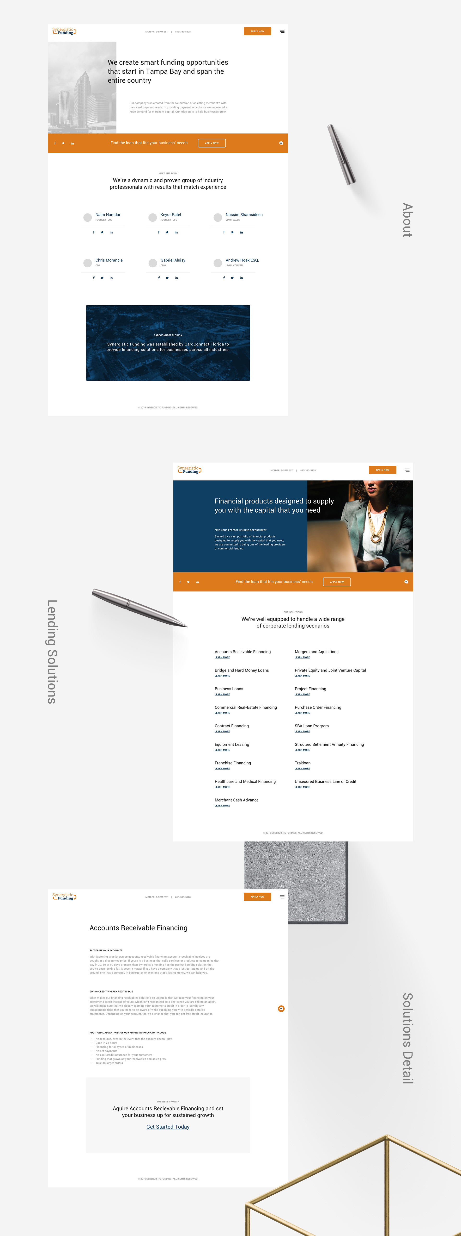 Synergistic Funding Additional Pages Mockup